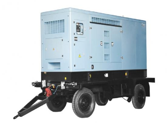 120kw to 520kw power generator sets with 4 wheels trailer