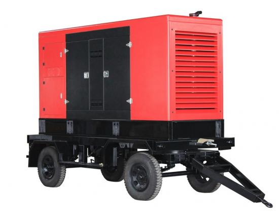 250kw to 400kw Trailer type power generator sets