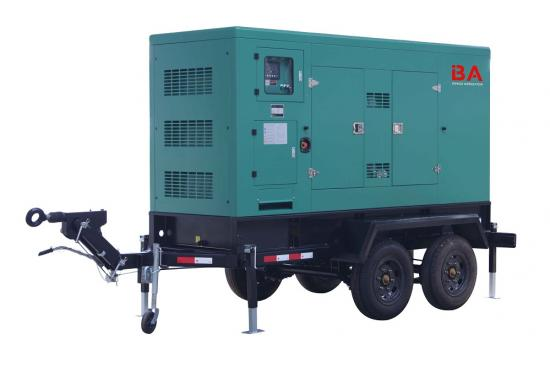 120kw to 200kw Trailer type power generator sets